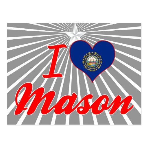 I Love Mason, New Hampshire Post Cards