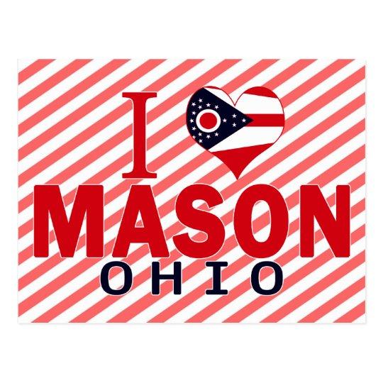 I love Mason, Ohio Postcard