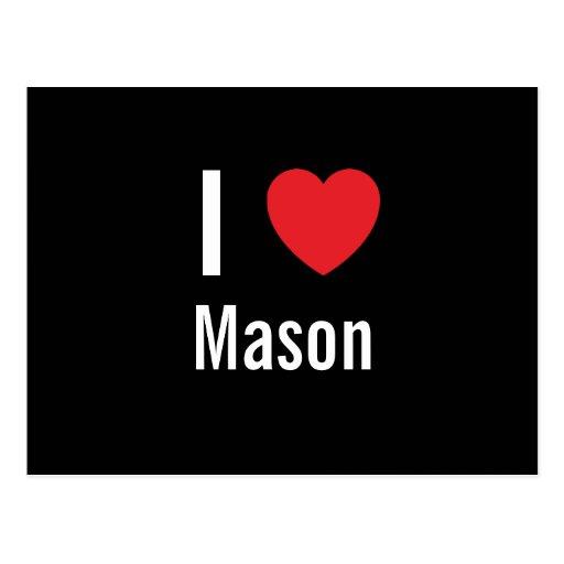 I love Mason Postcard