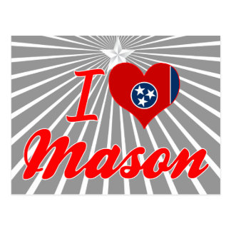 I Love Mason Tennessee Postcards