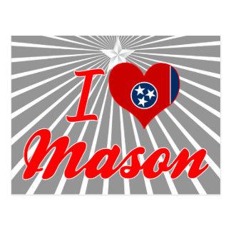 I Love Mason Tennessee Postcards