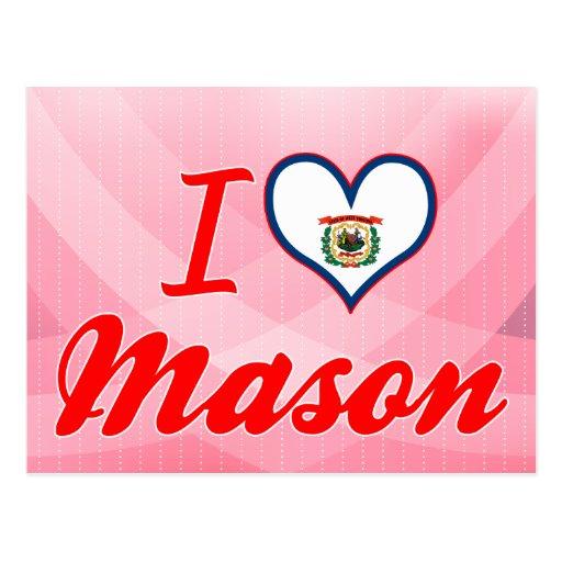 I Love Mason, West Virginia Postcard