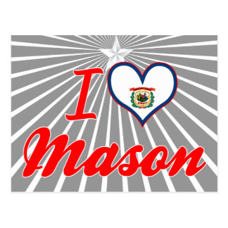 I Love Mason West Virginia Post Cards