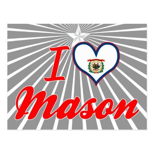 I Love Mason, West Virginia Post Cards