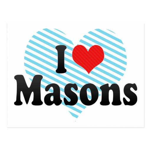 I Love Masons Post Card