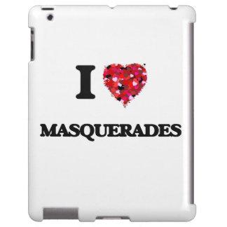 I Love Masquerades iPad Case