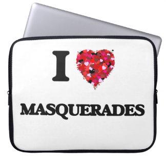 I Love Masquerades Laptop Computer Sleeves
