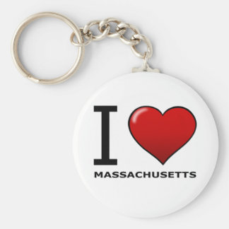 I LOVE MASSACHUSETTS KEY RING