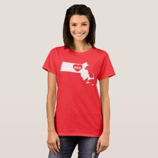 I Love Massachusetts State Women's T-Shirt