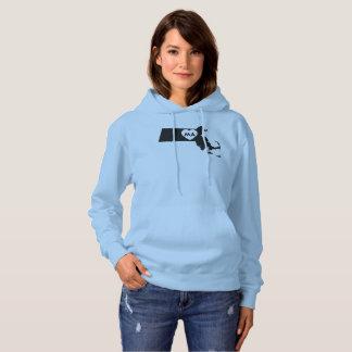 I Love Massachusetts Women's Hooded Sweatshirt