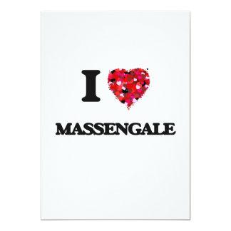 I love Massengale Georgia 13 Cm X 18 Cm Invitation Card
