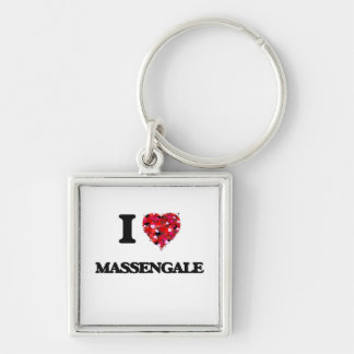 I love Massengale Georgia Silver-Colored Square Key Ring