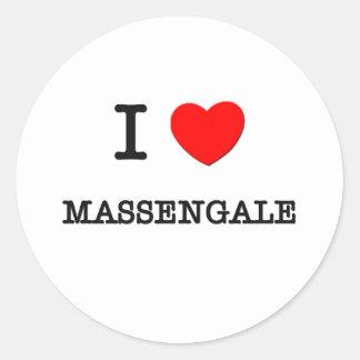 I Love Massengale Georgia Round Sticker