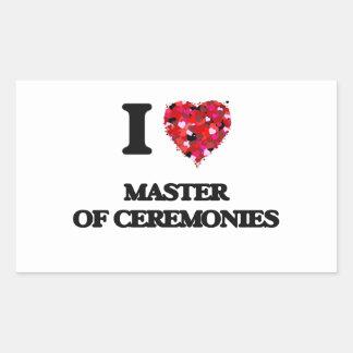 I Love Master Of Ceremonies Rectangular Sticker