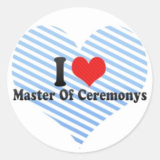I Love Master Of Ceremonys Sticker