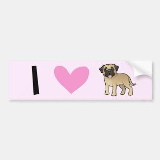 I Love Mastiffs / Bullmastiffs Bumper Sticker