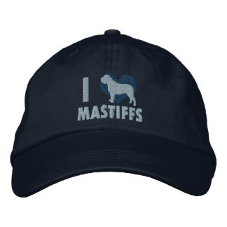 I Love Mastiffs Embroidered Hat (Blue)
