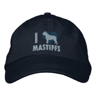 I Love Mastiffs Embroidered Hat (Blue)
