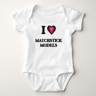 I Love Matchstick Models T Shirt