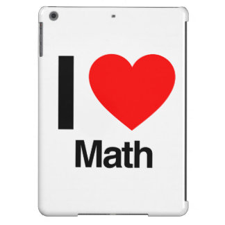 i love math iPad air cover