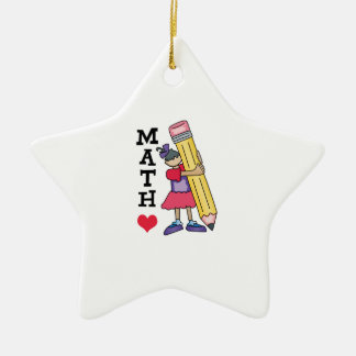 I LOVE MATH CHRISTMAS ORNAMENT