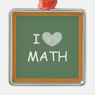 I Love Math Christmas Ornament