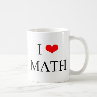 I Love math Coffee Mug
