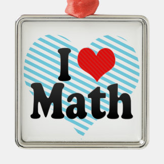 I Love Math Ornaments