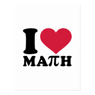 I love math Pi Post Cards