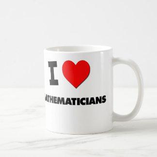 I Love Mathematicians Basic White Mug