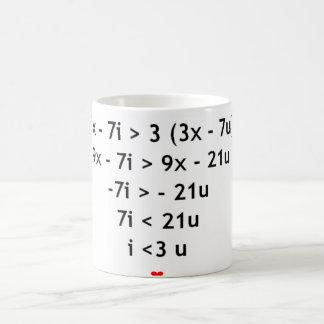 I love mathematics!! basic white mug