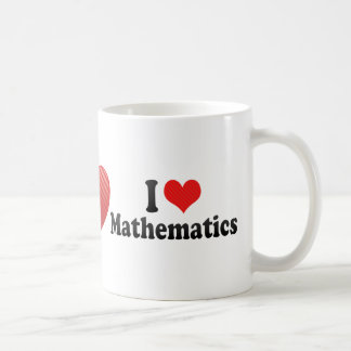 I Love Mathematics Basic White Mug