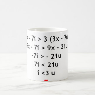 I love mathematics!! classic white coffee mug