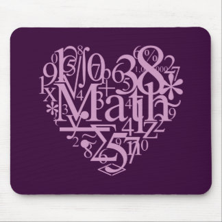 I Love MathMousepad Mouse Mat