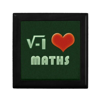 I LOVE MATHS - Green model Small Square Gift Box