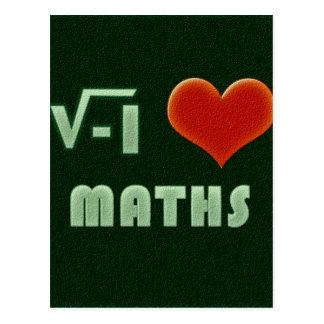 I LOVE MATHS - Green model Postcard