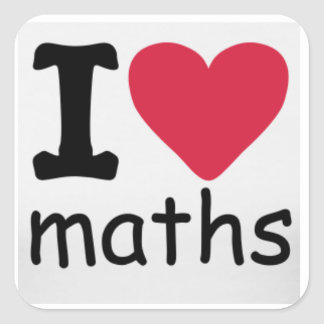 I love Maths Sticker