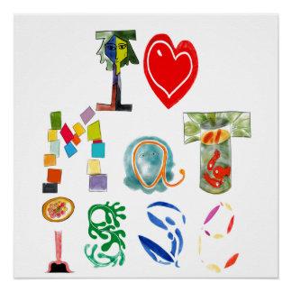 I Love Matisse Poster