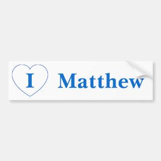 I Love Matthew Car Bumper Sticker