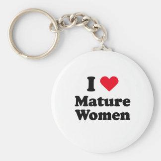 I love mature women keychain