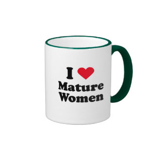 I love mature women mug