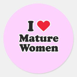 I love mature women sticker