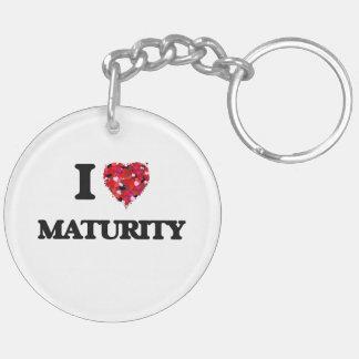 I Love Maturity Double-Sided Round Acrylic Key Ring