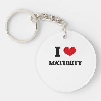 I Love Maturity Single-Sided Round Acrylic Key Ring