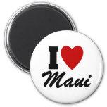 I Love Maui 6 Cm Round Magnet