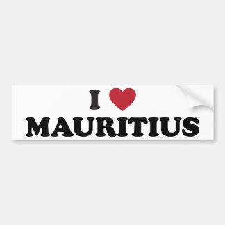 I Love Mauritius Bumper Stickers