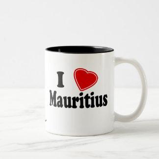 I Love Mauritius Two-Tone Coffee Mug