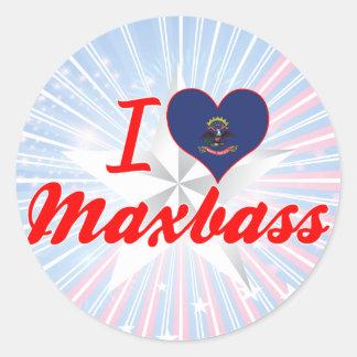 I Love Maxbass, North Dakota Round Sticker