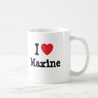 I love Maxine heart T-Shirt Basic White Mug