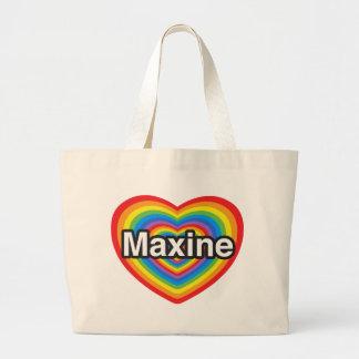 I love Maxine. I love you Maxine. Heart Jumbo Tote Bag